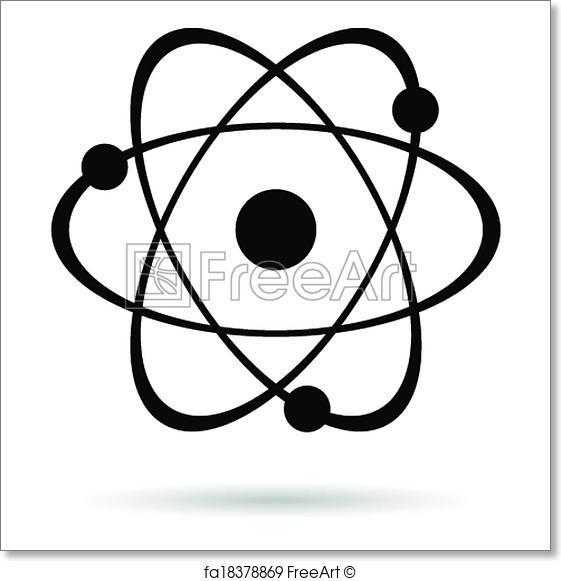 561x581 Free Art Print Of Vector Atom Icon. Vector Atom Icon Isolated On