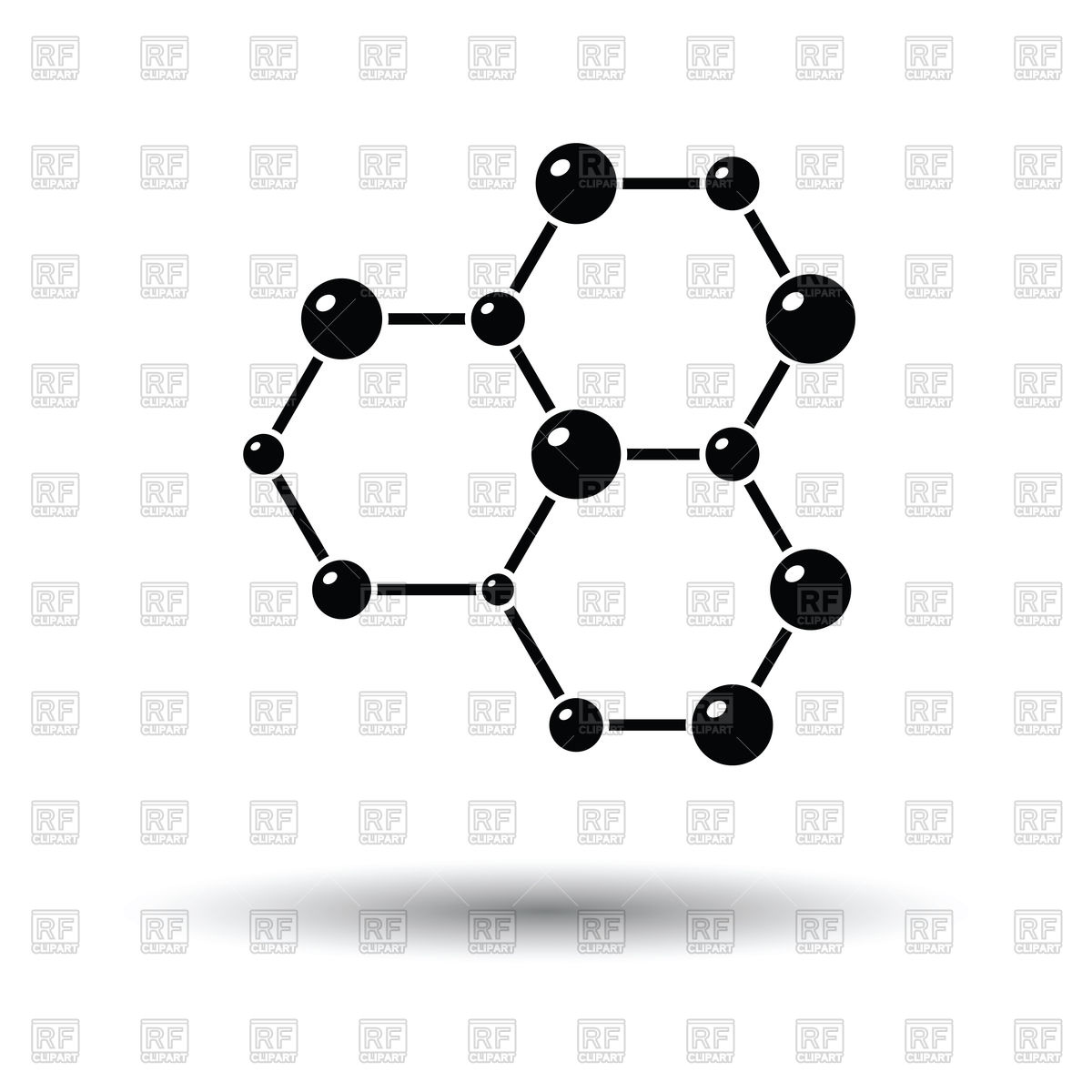 1200x1200 Icon Of Chemistry Hexa Connection Of Atoms Vector Image Vector