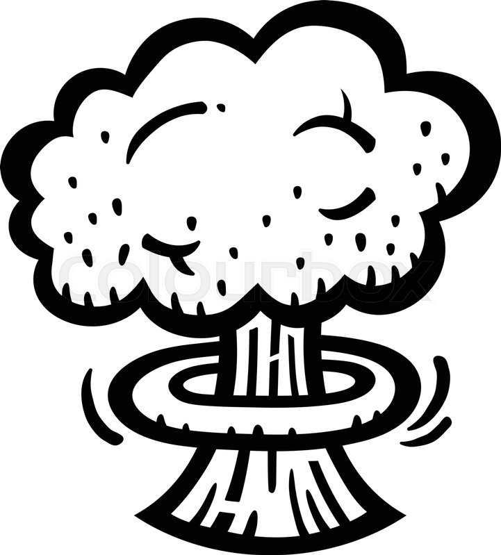 721x799 Mushroom Cloud Atomic Nuclear Bomb Explosion Fallout Vector Icon