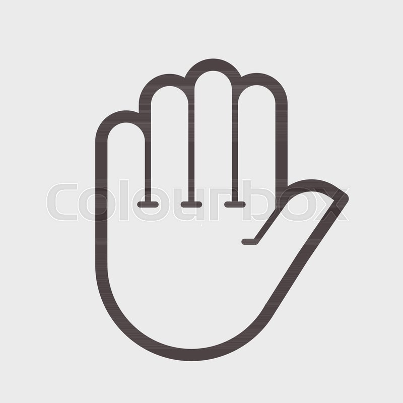 800x800 Hand Shake Gesture. Symbol Stop, Clean Hands, Attention Vector