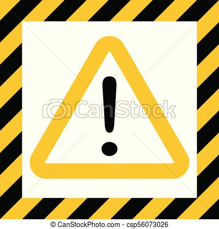 450x470 Hazard Symbol Sign, Exclamation Mark, Warn Caution Construction