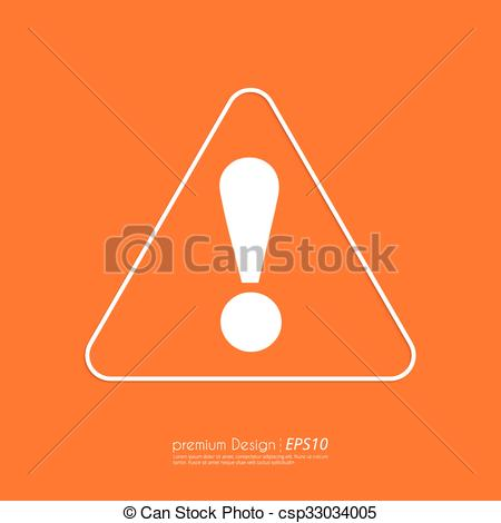 450x470 Stock Vector Linear Icon Attention. Flat Design.