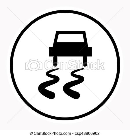 450x470 Warning And Danger Sign Attention Symbol. Vector Illustration