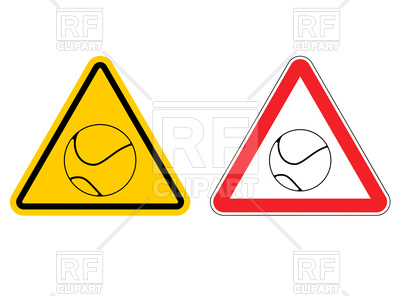 400x296 Warning Sign Tennis Attention Vector Image Vector Artwork Of