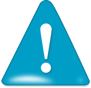 298x288 Attention In Blue Clip Art