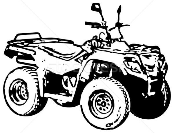 600x459 Four Wheel Motorbike Atv. Vector. Vector Illustration Alexey
