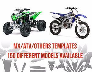 300x233 Motocross Amp Atv Full Body Vector Templates (11) (Instant Delivery
