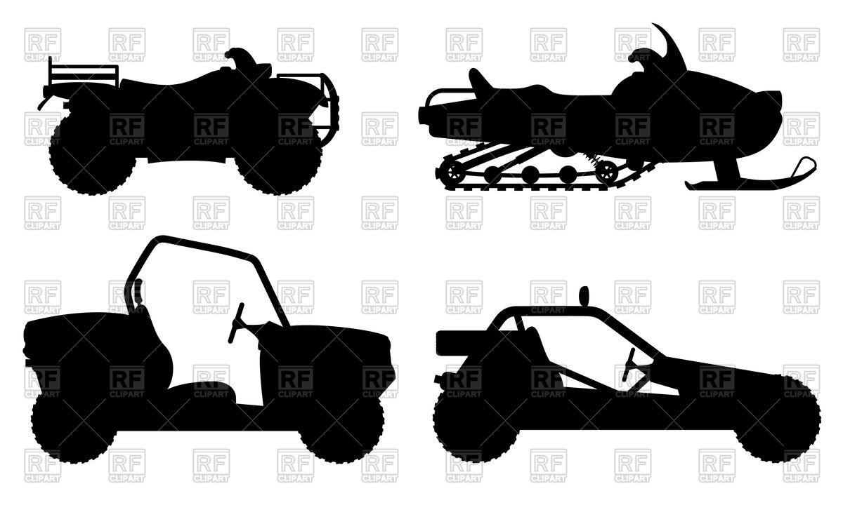 1200x720 Outline Of Four Wheel All Terrain Vehicle