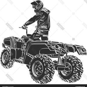 300x300 Photostock Vector Quad Bike Vector Illustration On Grungy
