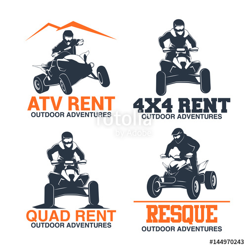 500x500 Set Of Atv Labels, Badges And Design Elements Stock Image And