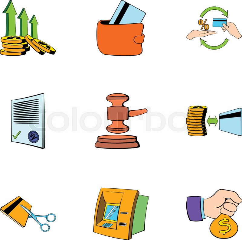 800x794 Auction Icons Set. Cartoon Illustration Of 9 Auction Vector Icons