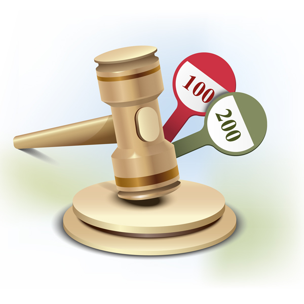 600x600 How To Illustrate An Auction Gavel Icon