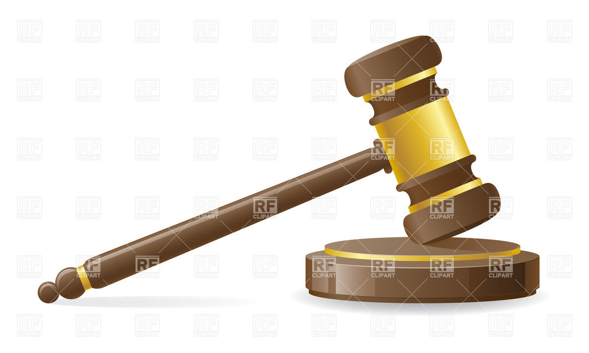 1200x720 Judicial Or Auction Gavel Vector Image Vector Artwork Of Objects