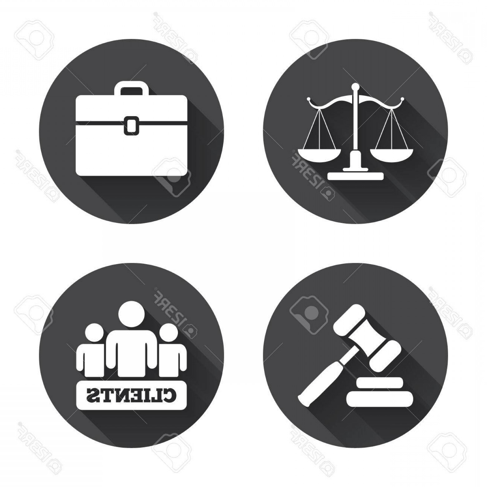 1560x1560 Photostock Vector Scales Of Justice Icon Group Of Clients Symbol