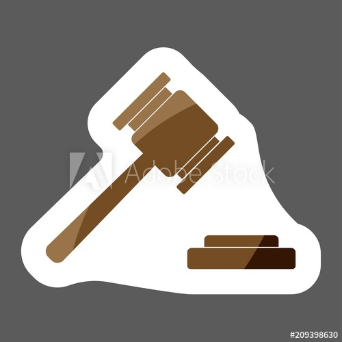 500x500 Vector Image Of A Judge Gavel Court Hammer. Vector Icon Of A