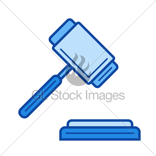 500x500 Auction Line Icon. Gl Stock Images