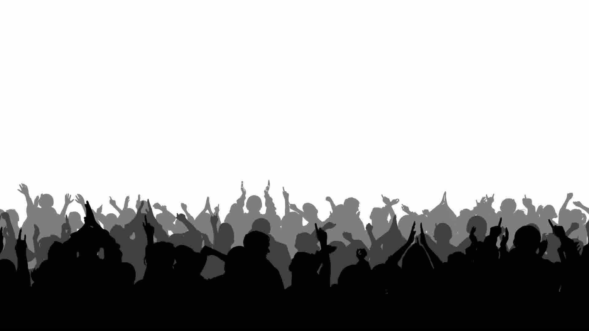 1920x1080 Crowd Clipart Silhouette