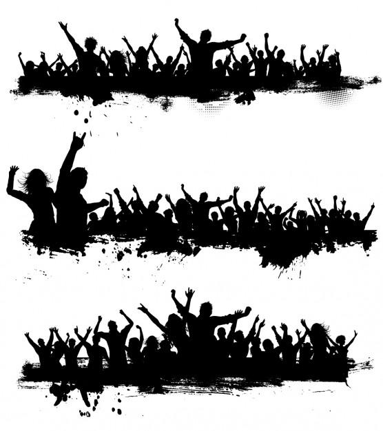 556x626 Grunge Crowd Scenes Vector Free Download