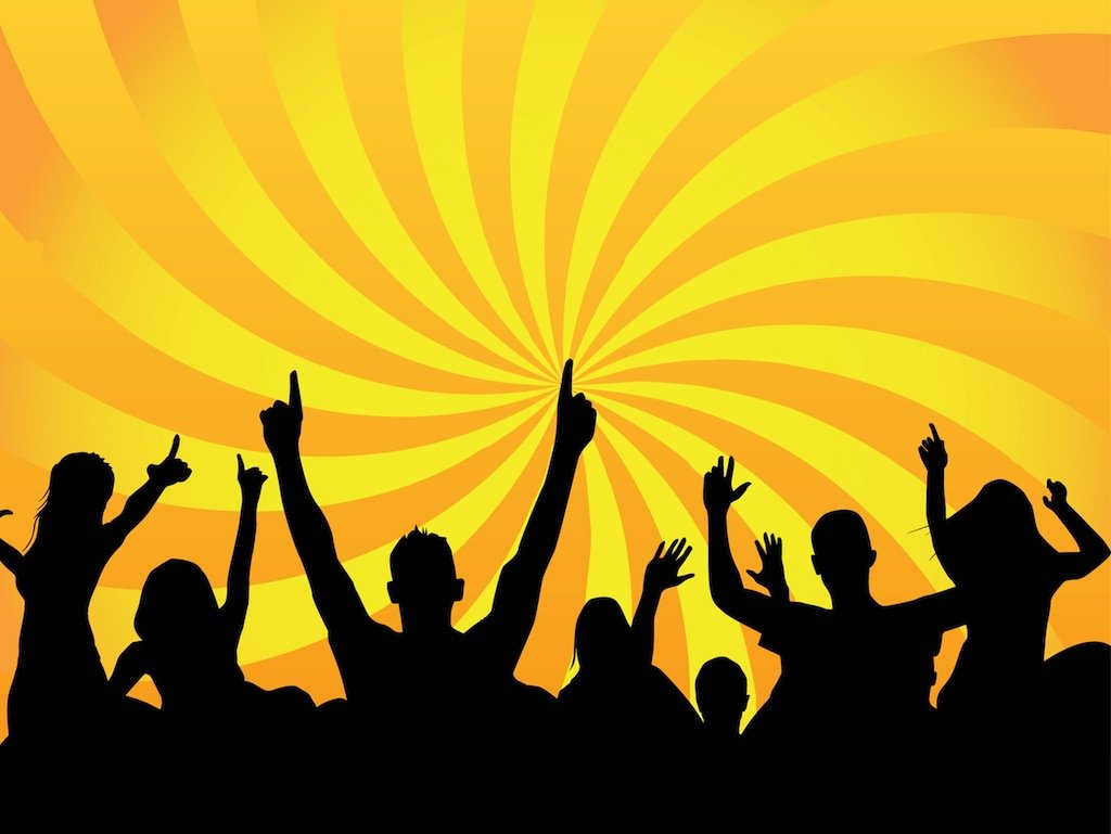 1024x769 Party Crowd Vector Art Amp Graphics