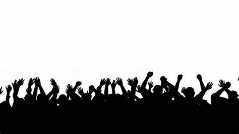 474x267 Audience Silhouette Vector Free. Silhouette Clipart Crowd Pencil