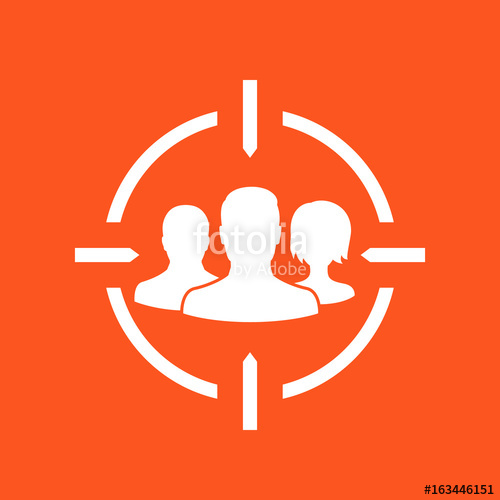 500x500 Target Audience, Vector Icon Stock Image And Royalty Free Vector