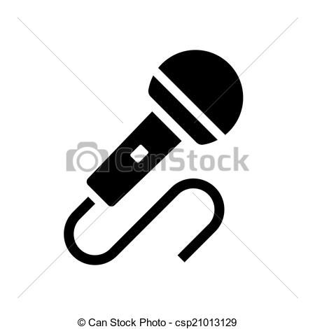 450x470 Audio Microphone Icon Vector. Audio Microphone Icon On White