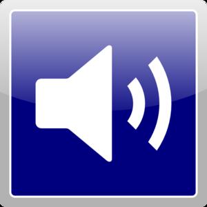300x300 Blue Audio Icon Clip Art