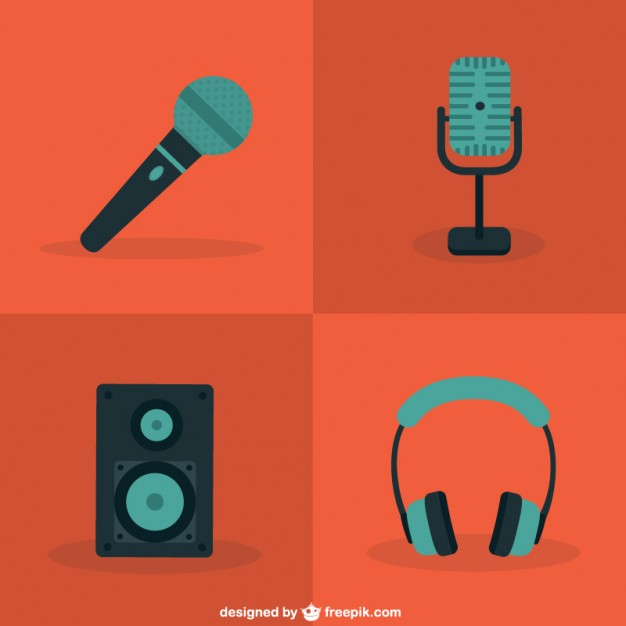 626x626 Color Microphone And Audio Icons Vector Free Download