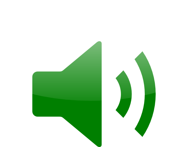 600x469 Green Audio Icon Clip Art