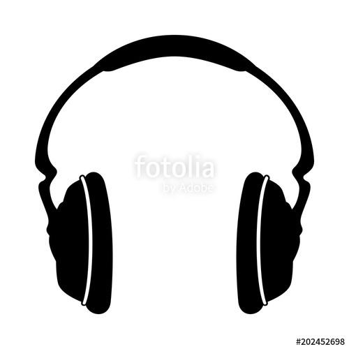 500x500 Headphones Icon. Earphones, Audio Icon. Vector Illustration