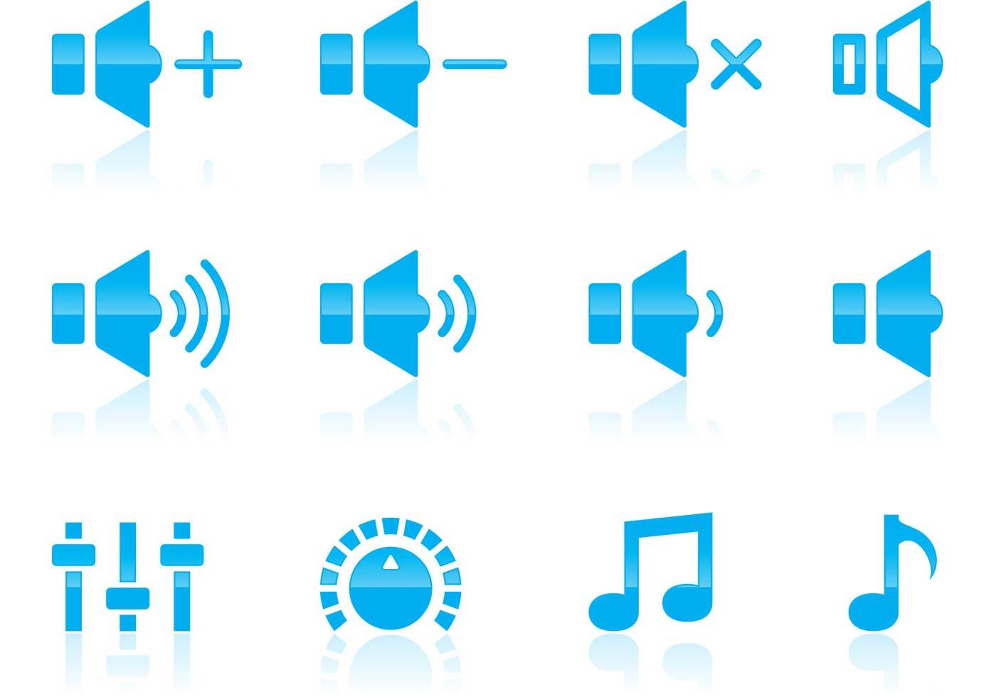1400x980 Volume And Audio Icons