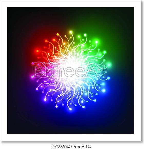561x581 Free Art Print Of Abstract Aura Light Network Tech, Vector