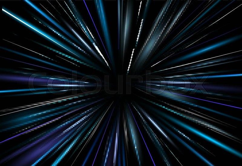 800x550 Vector Illustration Light Effect Dark Blue Light Abstract