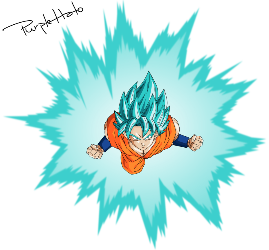 927x862 Vector] Goku Ssb Aura By Purplehato