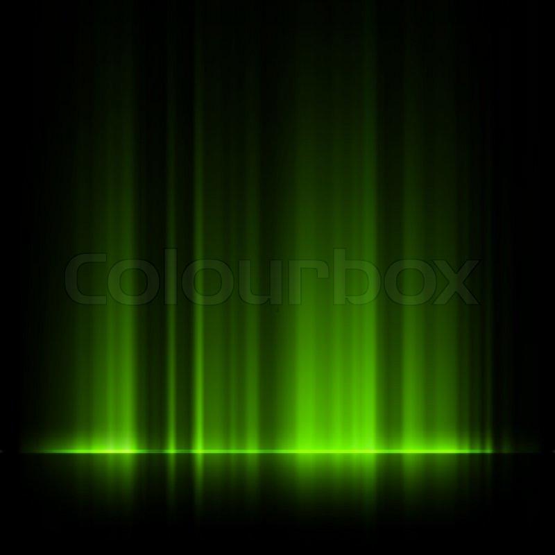 800x800 Green Northern Lights, Aurora Borealis Eps 10 Stock Vector