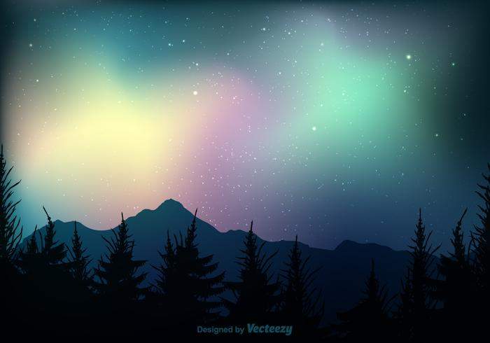 700x490 Northern Lights Vector Background