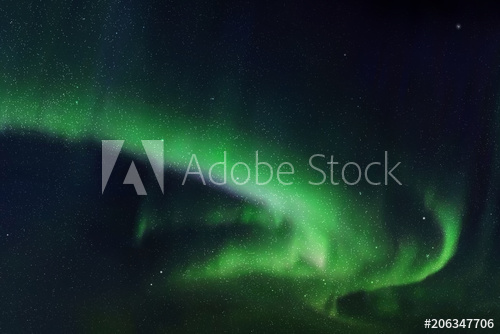 500x334 Vector Illustration With Beautiful Starry Sky And Northern Lights