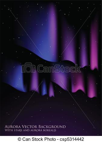 338x470 Aurora Background. Night Sky With Stars And Aurora Borealis.