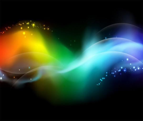 600x511 Dazzling Aurora Glow Abstract Vector Background