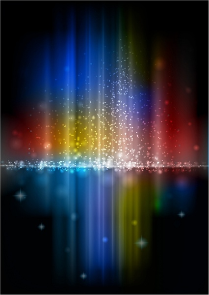 426x600 Glowing Rainbow Aurora With Sparkles Free Vector In Adobe