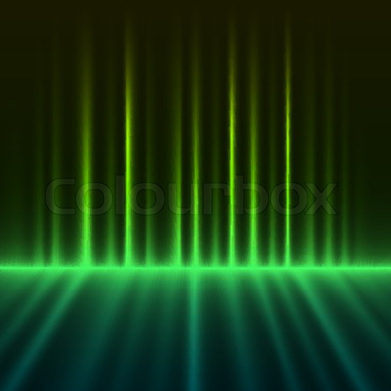 800x800 Abstract Green Colored Aurora Borealis Lights Vector Background