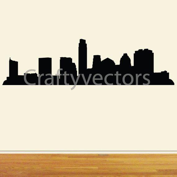 570x570 Austin Skyline Vector File Etsy