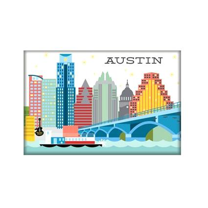 425x425 Austin Skyline Magnet Vector Lightsforless