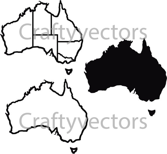 Australia Map Svg.Australia Map Vector At Getdrawings Com Free For Personal Use