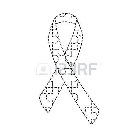 450x450 Autism Awareness Ribbon Template Littlelookbook