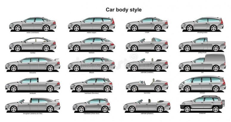 776x411 Car Body Style. Stock Vector. Illustration Of Road, Landaulet