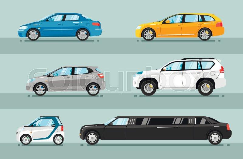 800x522 Different Passenger Cars. Sedan, Universal, Hatchback, Off Road
