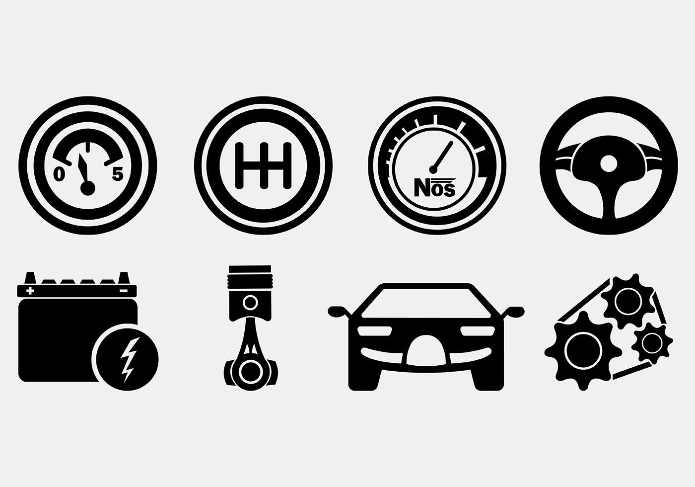 1400x980 Set Of Auto Body Icons