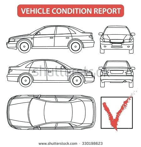 450x470 Vehicle Body Damage Report Template Car Condition Form Checklist