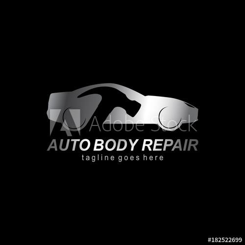 500x500 Auto Body Repair Logo. Modern Template Design. Vector Illustration